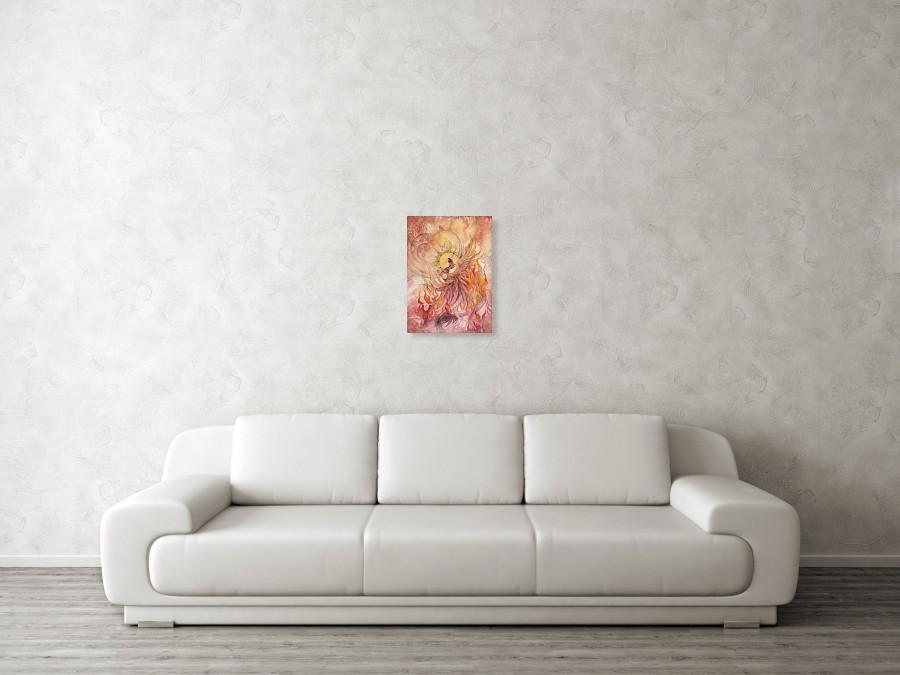 Phoenix Rising Art Print By Ellen Starr