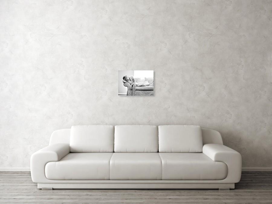 Woman On Sofa Art Print By Lisa Noble Photography