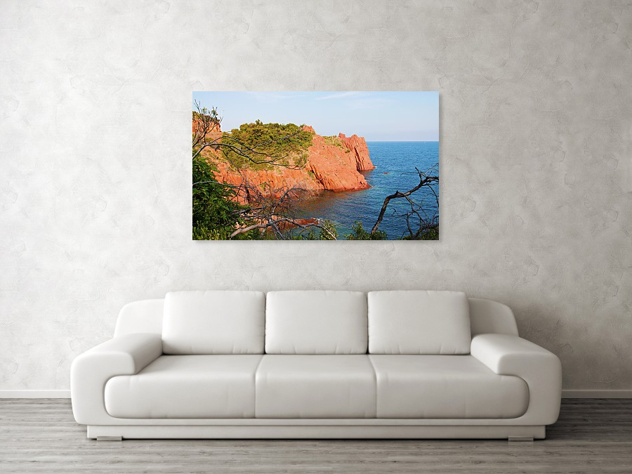 Cote D'Azur France art print for wall decor