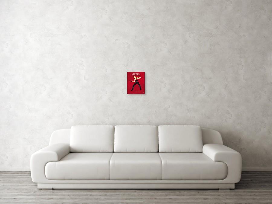 3b5f9867b6f928 ... No632 My Flash Gordon Minimal Movie Poster by Chungkong Art. Wall View  001. Wall View 002. Wall View 003