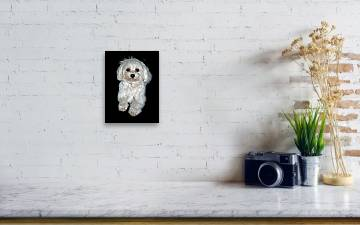 Maltese Terrier Puppy Canvas Print Canvas Art By Kenneth William Caleno