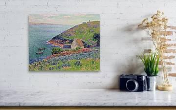 Henry Moret,Manech port,Seaside island coastal scenery,canvas print,canvas art,canvas wall art,large wall art,framed wall art,p1115