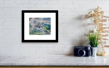 Panda Surfer Framed Print By Michael Creese