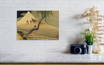 Boy Viewing Mount Fuji by Hokusai Art Print Poster Wall Decoration FREE SHIP