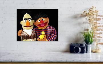 Sesame Street Inspirational Nursery Decor Art Set Of 2 Prints Bert And Ernie Handmade Products Children S Room Decor